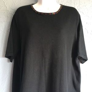 August Max Woman Sweater Black Size 1X
